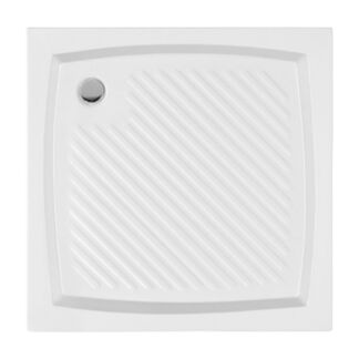 brodzik biały akrylowy, kwadratowy